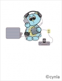 BD06 Unplug bear - Birthday Card