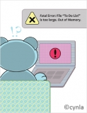 BD07 Fatal Error bear - Birthday Card