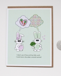 PR01 Preggo Bunny Folic acid - Happy Pregnancy Card