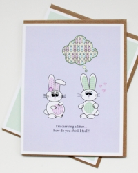 PR02 Preggo Bunny Litter - Happy Pregnancy Card