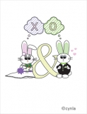 W01 Bunny Wedding Card