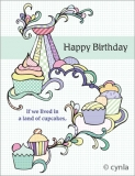 DL13 Cupcake Land - Birthday Card