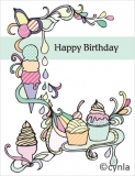 DL17 Ice Cream Land - Birthday Card