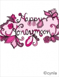 FL05 Happy Honeymoon Pink lace Card
