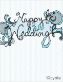 FL06 Happy Wedding in blue Card