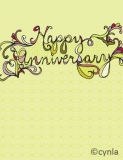FL15 Happy Anniversary Card