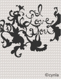 FL19 I love you BW - Love Card