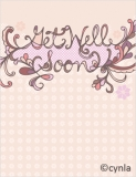 GW01 Get well soon pink