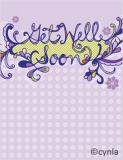 GW02 Get well soon dark blue/purple