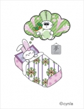 BD02 Bunny Dream Girl Birthday Card