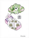 BD02 Bunny Dream Girl Birthday Card