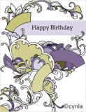 DL01 Fans purple - Birthday Card