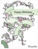 DL02 Fans green - Birthday Card