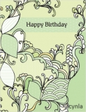 DL06 Leaves Greener - Birthday Card