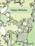 DL06 Leaves Greener - Birthday Card