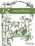 DL07 Bamboo - Birthday Card