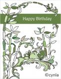 DL07 Bamboo - Birthday Card