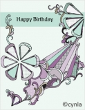 DL08 Ribbon - Birthday Card