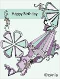 DL08 Ribbon - Birthday Card