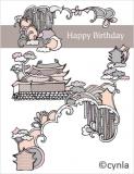 DL09 Castle - Birthday Card