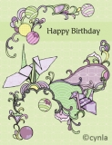 DL11 Crane - Birthday Card