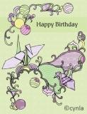 DL11 Crane - Birthday Card