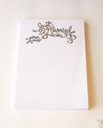 NP05 Just Married Notepad - Cynla