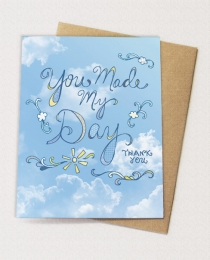 TY13 Thank You: You Made My Day - Blank Card